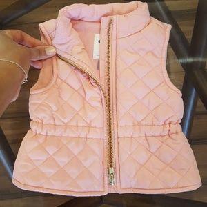 Pink Infant Puffer Vest, size 3 - 6 month